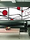 """12 """"-24"""" stil modern, ceas de perete abstract în pânză 3pcs"""