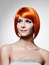 Capless hakan syntetisk apelsin bob stil hår peruk