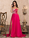 TS Couture® Formal Evening / Military Ball Dress - Fuchsia Plus Sizes / Petite A-line / Princess Strapless / Sweetheart Sweep/Brush Train Chiffon