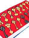 Mer accessoarer Inspirerad av Fairy Tail Natsu Dragneel Animé Cosplay Accessoarer Nyckelring Svart / Guld Legering Man