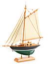 trä segelbåt dekoration