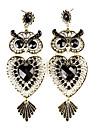 Owl formă Coroană cercei Resin