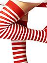 Chaussettes/Bas Fête / Célébration Déguisement Halloween Rouge / Blanc Résille Noël / Nouvel an Féminin Coton