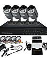 4 canales DVR CCTV Warterproof al aire libre IR Seguridad para el Hogar cámara de vigilancia del sistema (IR 10m grabación, D1 4CH)