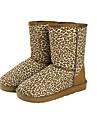Femmes Leopard chaudes bottes de neige chaussures