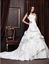 NEEA - Kleid für die Braut aus Satin und Spitze mit Bolerojäckchen
