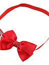 Chat / Chien Colliers Ajustable/Réglable / Noeud Papillon Rouge / Vert / Bleu / Jaune / Rouge Rose / Bleu marine Tissu
