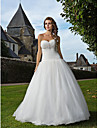 Lanting Bride® Fit & Flare Plus Sizes / Petite Wedding Dress - Classic & Timeless / Glamorous & Dramatic Vintage Inspired Floor-length
