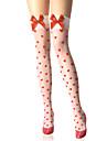 Chaussettes/Bas Doux Lolita Lolita Blanc Lolita Accessoires Bas Imprimé Pour Femme Nylon