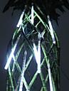20cm festival dekoration White LED meteor regn ljus för julfest (8-pack, 110-220V)