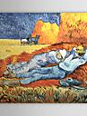 Peinture à l'huile réalisée à la main sur canevas tendu