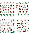 4st Jul 3D Plast Twinkle Nail Art Decorative Applikationer