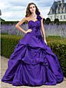 Ball/Formeller Abend/Quinceañera/Süß 16 Geburtstag Kleid - Regency Blau Taft - Duchesse-Linie/A-Linie/Princess-Stil - bodenlang -