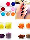 12 Couleur Velvet Twinkle Soie Nail Art décoratif poudre