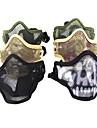 Multi-Color andas Airsoft nät av rostfritt stål Skull Mask (blandade färger)