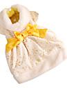 Or Noble motif fleuri Estampage robes de soirée de style pour chiens (couleurs assorties, XS-XL)