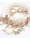 Women's Pearl Coin Bracelet