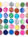 36pcs 3D färgglada Nail Dekoration Set