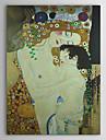 Mor och barn (detalj från Kvinnans tre åldrar) C1905 Gustav Klimt Museum Kvalitet med guldfolie