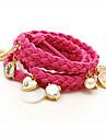vrouwen het hart parel gelaagde hangers armband