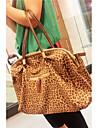 kvinnors vintage enkla läder leopard hänger