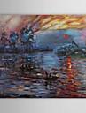 Peint à la main Célèbre / Paysages Abstraits Un Panneau Toile Peinture à l'huile Hang-peint For Décoration d'intérieur