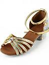 Kvinnors Konstläder / Rhinestone Övre vristrem Latin / Salsa dansföreställning skor (Fler färger)