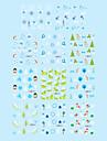 1st Jul 2D Plast Twinkle Nail Art Dekorativa Applikationer insisterar av 11 färger