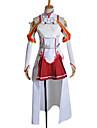 Inspiré par Sword Art Online Asuna Yuuki Anime Costumes de cosplay Costumes Cosplay Mosaïque Blanc / Rouge Sans ManchesTop / Jupe /