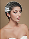 vakre tyll bryllup brude blomster headpiece fascinators