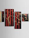 HANDMÅLAD Abstrakta landskap Fyra paneler Kanvas Hang målad oljemålning For Hem-dekoration