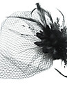 Women's Satin / Feather / Tulle Headpiece - Special Occasion Fascinators / Birdcage Veils 1 Piece