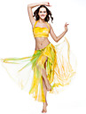 Belly Dance Skirts Women's Training Polyester Tie Dye 1 Piece Yellow Belly Dance Spring, Fall, Winter, Summer Dropped Skirt