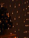 festival dekoration 120-ledda 8-mode gult ljus netto lampor för fest trädgård staket (220V)