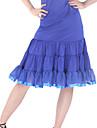dancewear polyester avec des volants jupe de danse latine pour les dames