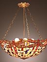 22 tum tiffany-stil trollslända mönstret naturligt skalmaterialet inverterad pendel ljus (0835-d8027)