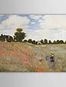 HANDMÅLAD Känd / Landskap En panel Kanvas Hang målad oljemålning For Hem-dekoration