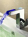 Sprinkle® by Lightinthebox - contemporaine robinet conduit lavabo cascade salle de bains - fini chrome