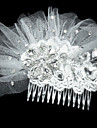 Fashion Net med rhinestone Dame Fascinators / hår kamme