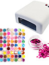 Hot Selling DIY Nail Art Drier Machine (36W) And 72 Colors Glitter Nail Art