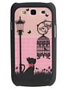 Carcasa Detasabila Dura cu Design de Pisica si Cusca de Pasari pentru  for Samsung Galaxy S3 I9300