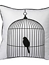 fågel i bur dekorativa örngott