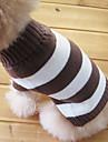Katter Hundar Tröjor Brun Hundkläder Vinter Randig Mode Håller värmen