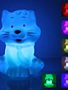 Laughing Cat forme de lumière colorée LED Nuit (3xAG13)