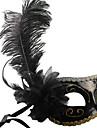 Mask Cosplay Festival/Högtid Halloween Kostymer svart Enfärgat Mask Halloween / Karnival / Nyår Unisex PVC