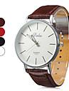 PU analog cuarț ceas de mână unisex lui (culori asortate)