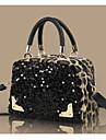 kvinnors trendiga paljett leopardmönstrad crossbody bag