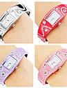 brățară stil aliaj analog cuarț ceas pentru femei (culori asortate)