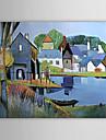 HANDMÅLAD LandskapModerna En panel Kanvas Hang målad oljemålning For Hem-dekoration