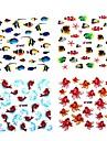 4pcs Sticker 2D ongle Fleur
